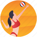 beach volleyball, handball, olympic game, olympic sports, olympics event icon