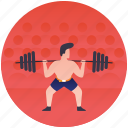 bodybuilding, callisthenics, heavy lifting, olympics game, weightlifting icon