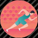 olympics sports, racing, running, running figure, sprinting icon