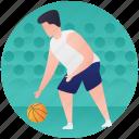 ball game, basketball, basketball player, netball, olympics game icon