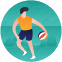 ball game, olympics game, rugby figure, rugby game, rugby player icon