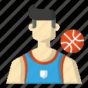 avatar, ball, basket, sports icon
