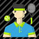 avatar, ball, racket, sports, tennis