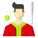 avatar, baseball, sports, stick icon