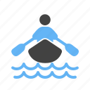 boat, race, row, rowing, sports, team, water icon