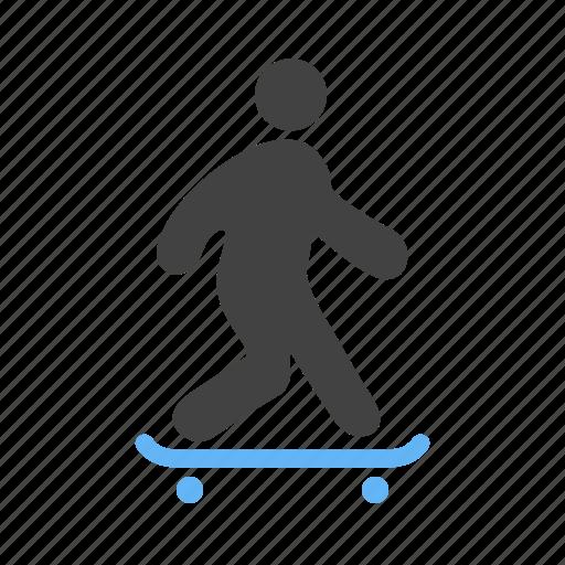 board, skateboard, skateboarder, skating, sports, wheels icon
