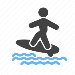 activity, sport, surf, surf board, surfer, surfing board, water icon