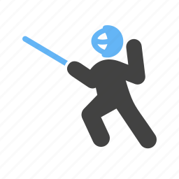 blade, game, match, shield, sports, sword, sword fighting icon