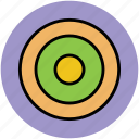 aim, archery board, bullseye, dartboard, goal, target, target board icon