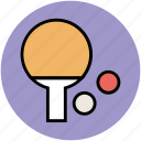 ping pong, sports game, table tennis, tennis ball, tennis bat icon