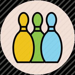 alley pins, bowl pins, bowling, game, gaming, hitting pins, sports icon