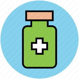 food supplements, medications, medicine, medicine jar, vitamins icon