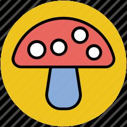diet, eating, food, fungi, mushroom, toadstool icon