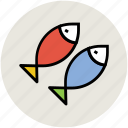 cooked fish, fish, food, healthy diet, raw fish, seafood icon