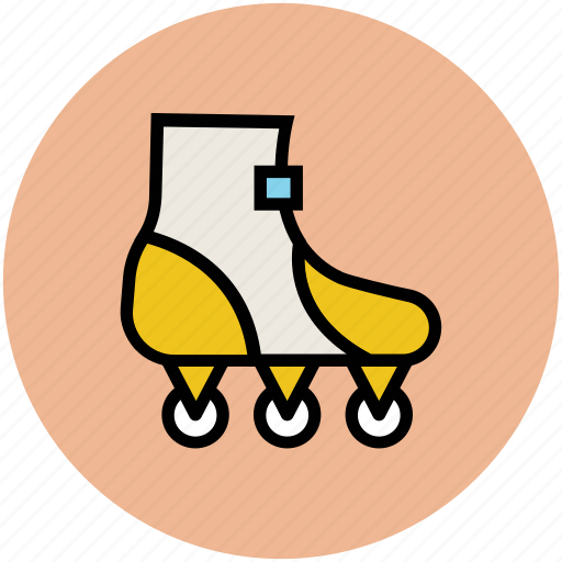 inline skates, roller skates, rollerblading, skates, skates shoes, skating boot, wheel shoes icon