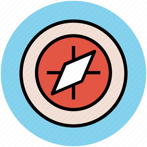 cardinal points, compass, gps, navigation, navigational tool icon