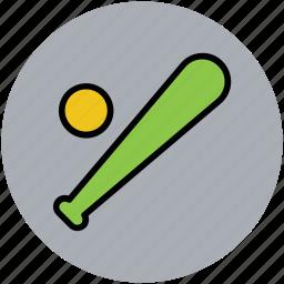 ball, baseball bat, baseball game, sports, sports ball icon