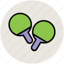butterfly bat, game, ping pong, sports, table tennis icon