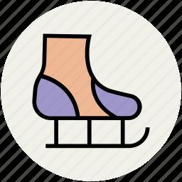 ice skates, ice skating, quad skates, skates, sports, sports equipment icon
