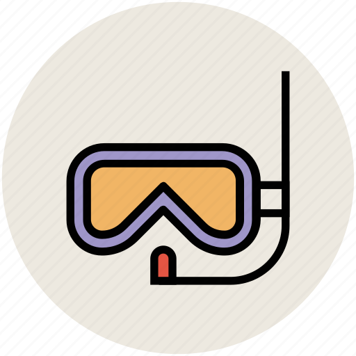 dive mask, scuba mask, snorkel mask, snorkeling, swim mask, swimming equipment icon