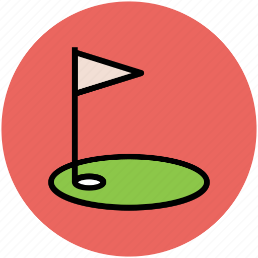 golf accessories, golf club, golf course, golf equipment, golf flag, golf flag hole icon