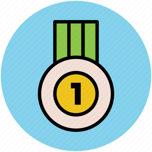 badge, first position, medal, position medal, winner medal icon