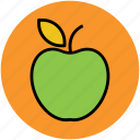 apple, diet, food, fruit, healthy diet icon