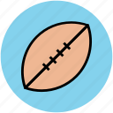 american ball, ball, egg ball, rugby, sports, sports ball, sports equipment icon