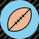 american ball, ball, egg ball, rugby, sports, sports ball, sports equipment icon