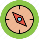 cardinal points, compass, gps, navigation, navigational tool icon