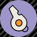 aerodynamic whistle, game, referee whistle, sports, sports whistle, whistle icon