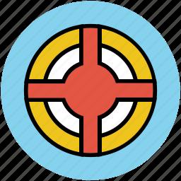 aim, archery board, bullseye, crosshair, dartboard, goal, target, target board icon