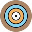 aim, archery board, bullseye, crosshair, dartboard, goal, target, target board icon