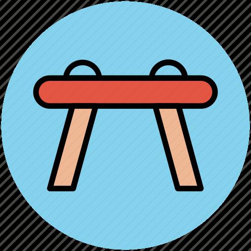 gymnastic pommel, gymnastics, horse vault, pommel, pommel horse icon