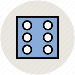 casino, casino dice, dice, gambling, luck game, number six icon