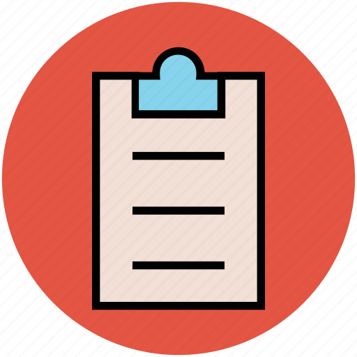 clipboard, document, list, paper, plan, sheet icon