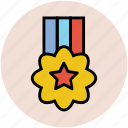 award, badge, medal, prize, star medal, winnere icon