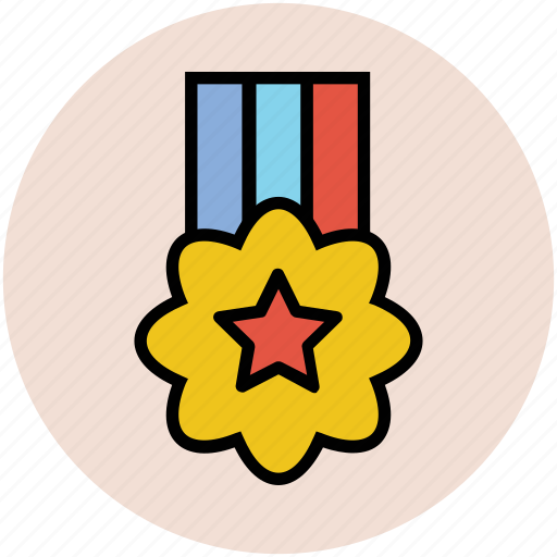 award, badge, medal, prize, star medal, winnere icon