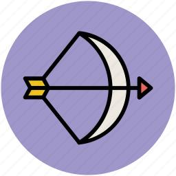 archery, archery arrow, archery target, arrow, bow and arrow, target icon