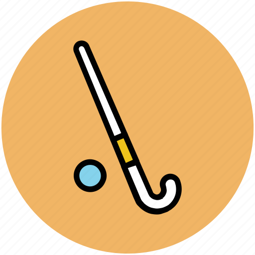 game, hockey ball, hockey stick, sports, sports equipment icon
