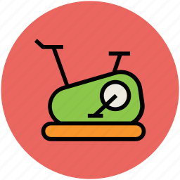 cycle ergometer, exercise bicycle, exercise bike, exercycle, fitness, gym equipment, stationary bicycle icon