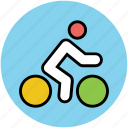 cycle race, cycling, cyclist, fitness, physical exercise icon
