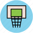 backboard, basketball, basketball hoop, basketball stand, game, sports icon