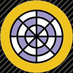 aim, archery board, dartboard, goal, target board icon