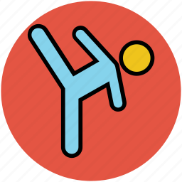 athlete, exercising, gymnast, player, sports person, sportsman icon