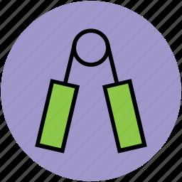 grip strengthener, grippers, hand exerciser, hand gripper, hand strengthener icon