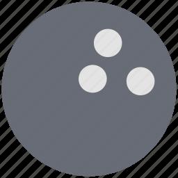 ball, bowling ball, bowling game, five pin bowling, game, ten pin ball icon