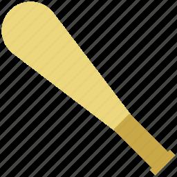 baseball, baseball bat, game, play, sports bat, sports equipment icon