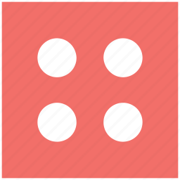 casino, casino dice, dice, gambling, luck game, number four icon