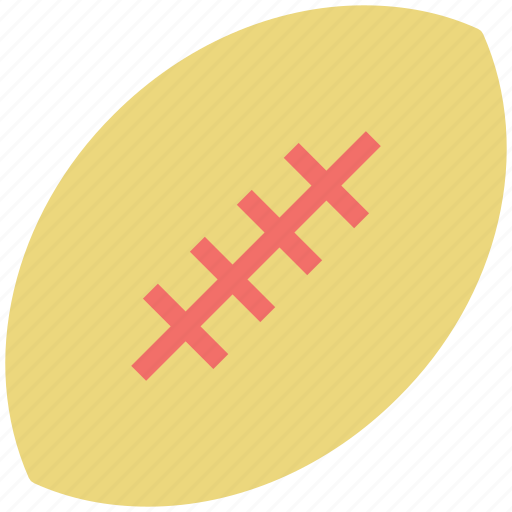 american ball, ball, rugby, sports, sports ball, sports equipment icon